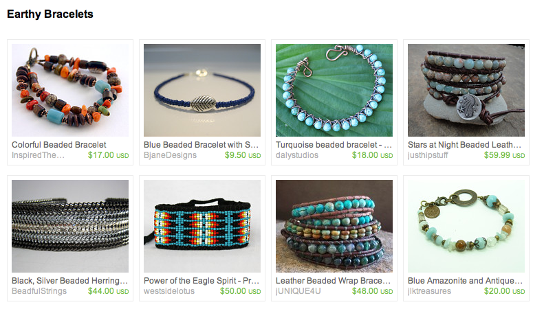 Treasury on Etsy: Earthy Bracelets