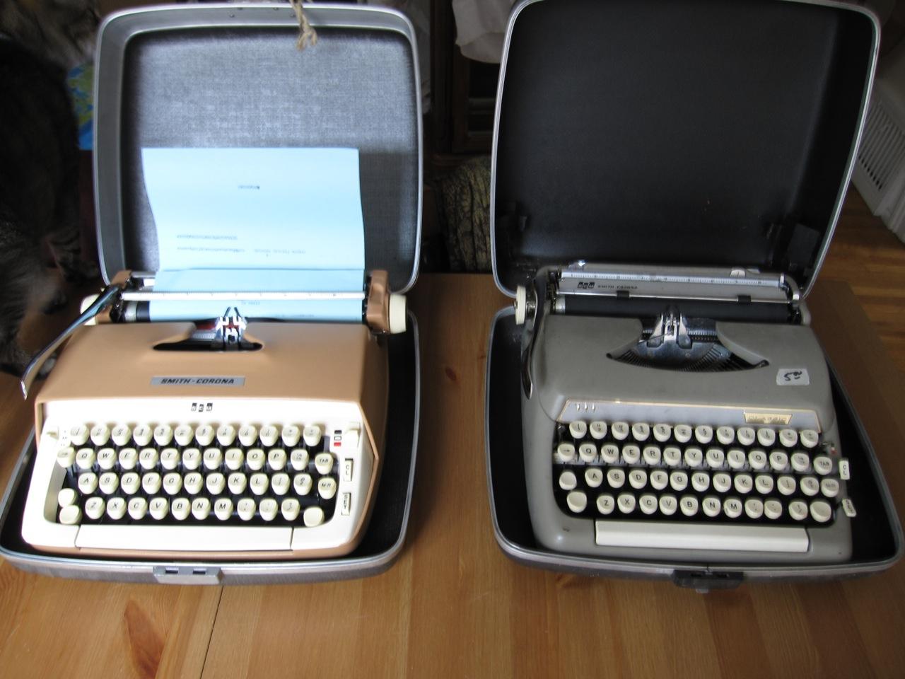 Vintage finds: Smith & Corona portable typewriters!