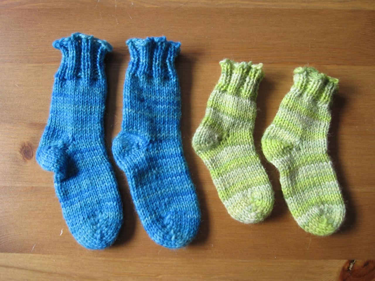 Tiny baby socks! Awww!