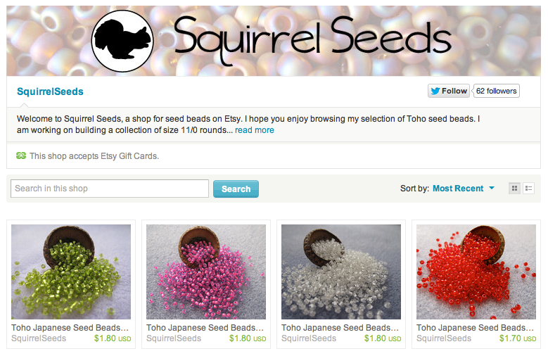 My New Etsy Shop: Squirrel Seeds Seed Beads