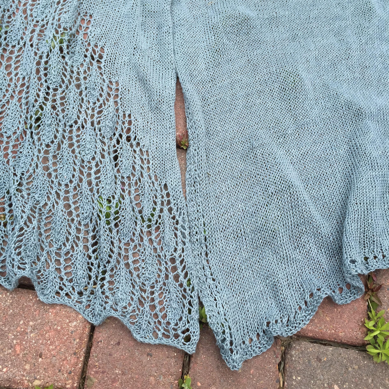 Summer linen lace stole